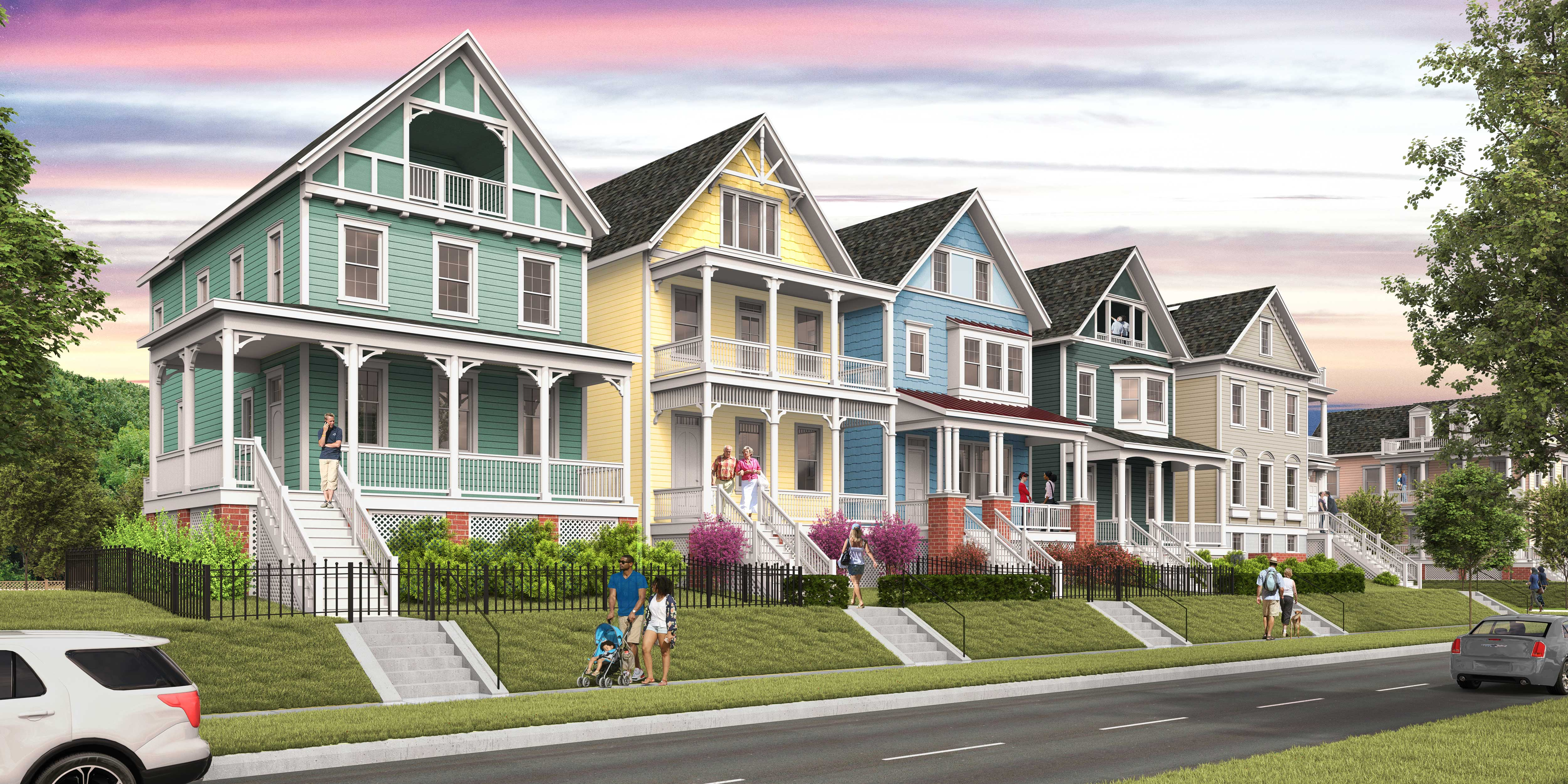 Painted Ladies Rendering