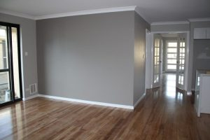 walls paint with wood floor