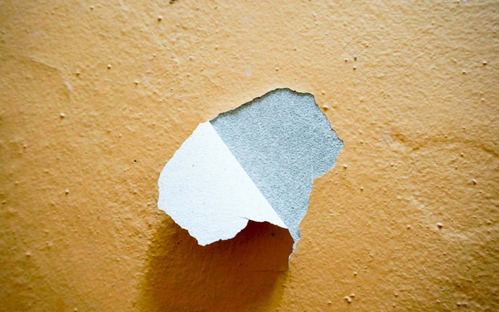 Paint peeling off